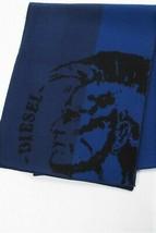 Diesel Unisex K-Dubo 00STP9 Fine Knitting Scarf Blue - $80.19
