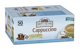 Grove Square Cappuccino, French Vanilla, 50 Single Serve Cups - $22.65