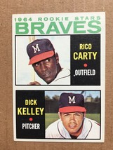 1964 Topps #476 Rico Carty Rookie Baseball Card EX Condition Atlant Brav... - $14.99