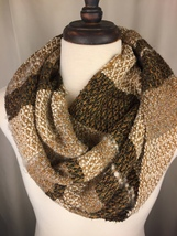 Handwoven Cowl from Hand-dyed Copper Penny Warp - $96.00