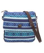 "Eliza Journey Crossbody Bag 11""x 2.5"" x11"", Lined,Back Zip Pocket Woven ... - $43.95"