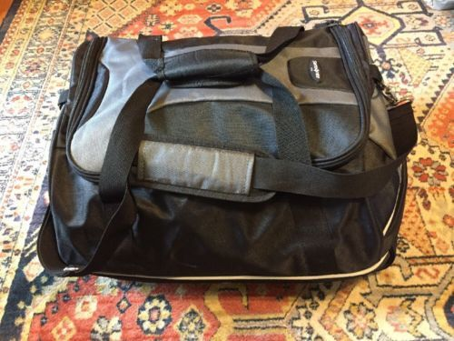 Samsonite Duffle Bag 21 inch Black Gray Travel With Shoulder Strap