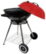 """Round Kettle Charcoal 18"""" Barbecue BBQ Grill With Red Lid New - £26.80 GBP"""