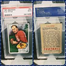 1951 Bowman #32 Y.A. Tittle PSA 5 San Francisco 49ers HOF - $120.62