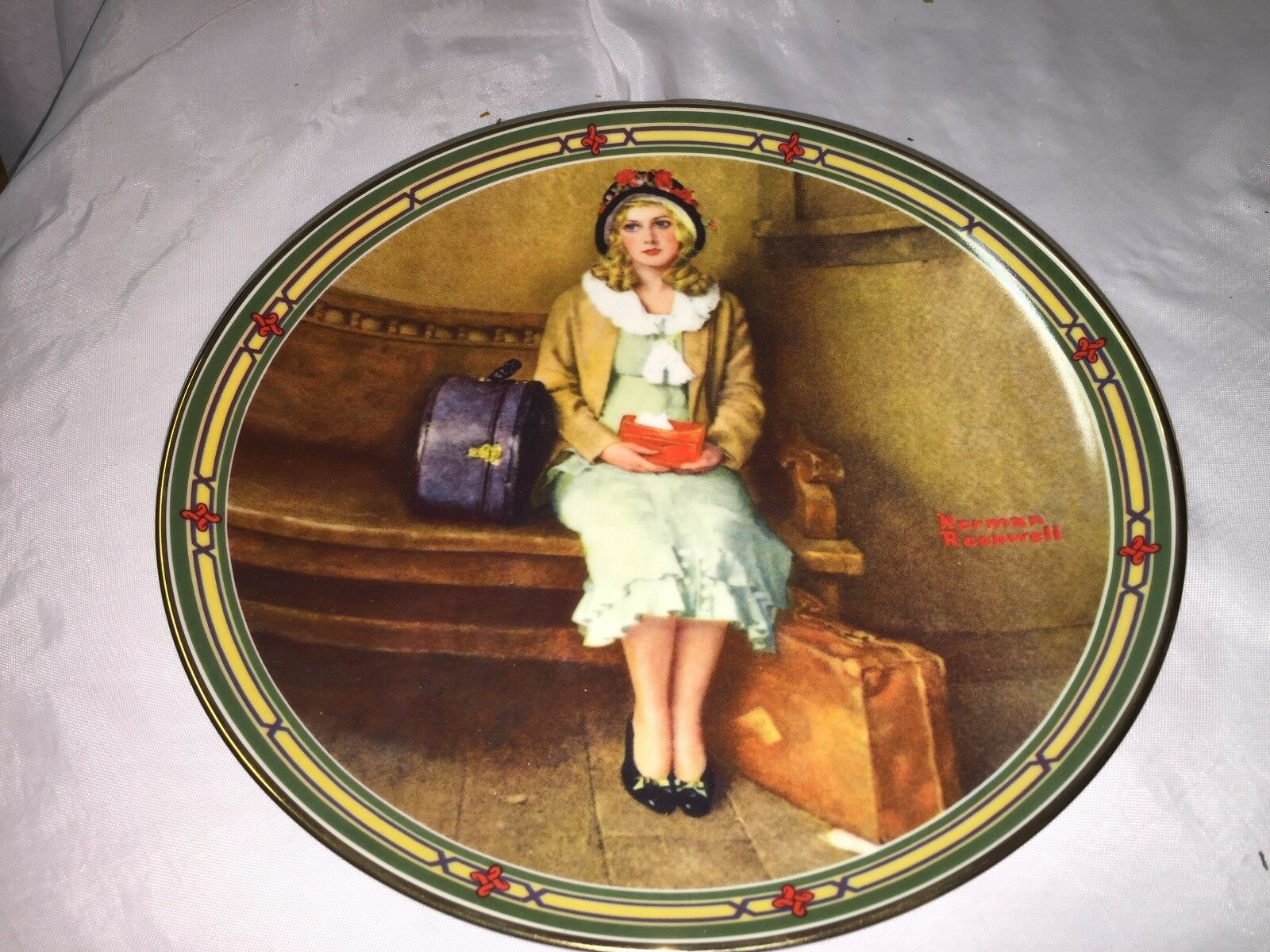 """Norman Rockwell collector plate """"A Young Girl's Dream"""" 1985, Knowles         9z"""