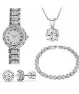 Luxury Women Rhinestones Bracelet Watch Set Ladies Quartz Dress Wristwat... - $14.99