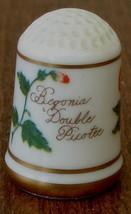1978 Franklin Porcelain Bloemen Van Nederland Thimble Begonia Double Pic... - $9.89
