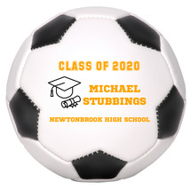 Personalized Custom Class of 2020 Graduation Regulation Soccer Ball Oran... - $59.95