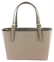 Tory Burch  Emerson Small Buckle Gray Leather Tote bag - $209.00