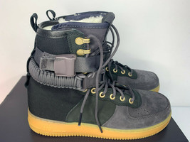 NEW SIZE 9 MEN Nike SF AF1 PRM Air Force SHERPA Fleece Sneakerboots Shoes WINTER image 2