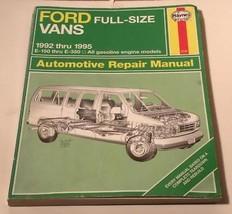 Haynes Ford Vans Full Size 1992 Thru 1995 E 150 Thru E 350 Repair Manual - $19.99