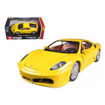 Ferrari F430 Yellow 1/24 Diecast Model Car by Bburago 26008y - $30.44