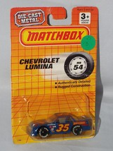 Matchbox Early 90s Release MB 54 Chevrolet Lumina Blue Stock Car - $4.00
