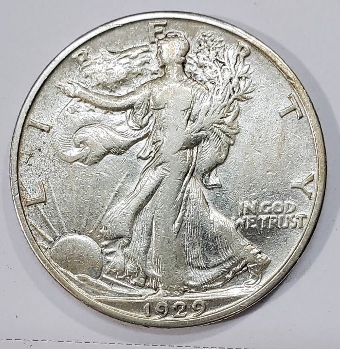 1929D Walking Liberty Half Dollar 90% Silver Coin Lot# MZ 4856