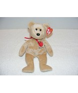 """2004 TY BEANIE BABIES """"BIG APPLE"""" NEW YORK BEAR With FLAWS TAG GUC  - $12.99"""