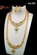 Traditional Gold Plated Fashion Jewelry Wedding Partywear Necklace Set nF934 - $81.67