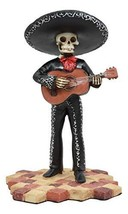 Ebros Traditional Charro Outfit Black Mariachi Band Skeleton Guitarist Statue Da - $21.99