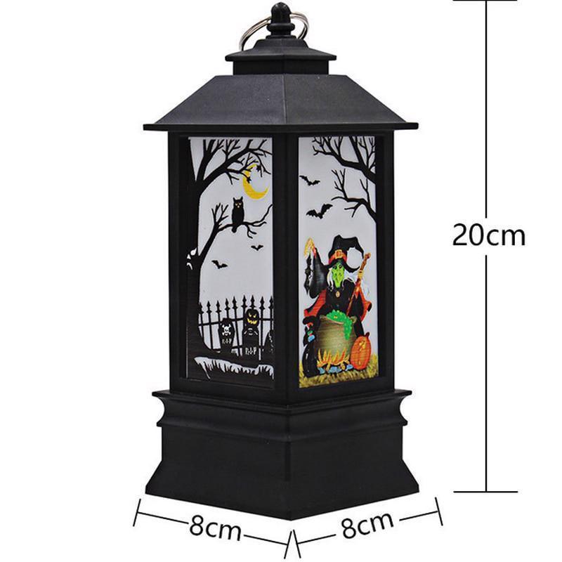Bat Pumpkin Castle Witch Pattern Hanging Light Lantern Halloween Party Decor