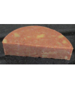 Peppermint Essential Oil & Pink Clay Goat Milk Soap One 5.6 Ounce Half Moon Bar - $7.00