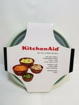 KITCHENAID SET OF 4 PISTACHIO PREP BOWLS WITH LIDS - $14.99