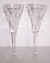 """STUNNING PAIR OF WATERFORD CRYSTAL 9 1/4"""" CHAMPAGNE TOASTING FLUTES - $71.27"""