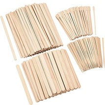 Hestya 600 Pieces Wax Applicator Sticks Wood Waxing Craft Sticks Spatulas Applic