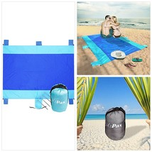 Sand Proof Beach Blanket Water Repellent Oversize Sand Free Beach Mat fo... - $39.57
