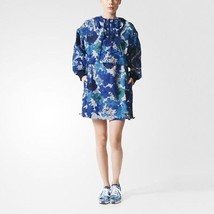 NWT New $275 Womens Adidas Stella McCartney Hood Jacket Run Pullover Blu... - $135.00