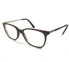 GUESS GU2566 050 Eyeglass Frames Square Cats Eye Clear Brown Gold Temple... - $44.88