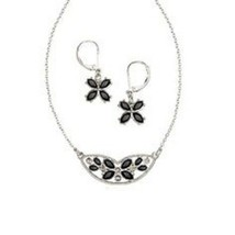 Avon Alsace Flowers Necklace & Earring Set - $21.78