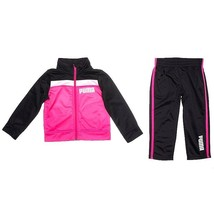 Puma Toddler Girls 2 Pc Tracksuit Set, Pink/Black Colors. Size 2T(US). NWT - $27.99