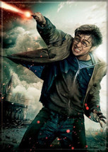 Harry Potter with Wand Deathly Hallows Art Image Refrigerator Magnet NEW... - $3.99