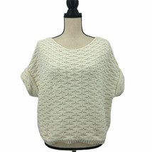 LOFT | XL Large White Chunky Knitted Sweater Top Short Sleeve - $25.81