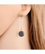 BAHYHAQ - Marble Stud Earrings for Women Round Asymmetric Long Earring - $1.70