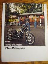1977 Harley Davidson Brochure, Cafe Racer Super Glide Sportster Electra Glide 77 - $16.39