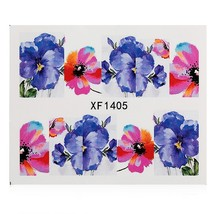 1 Sheet Flower Nail Decals Art Water Transfer(XF1405) - $6.31
