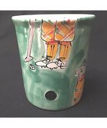 Whimsical Hand Painted Golf Coffee Tea Cup Mug  - $19.80