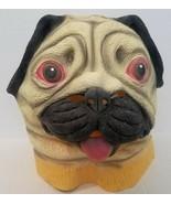 Creepy Party Pug Dog Full Latex Mask Halloween Cosplay Dog Animal Head N... - $16.93