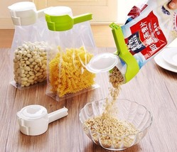 Food Storage Clamp Fresh Keeping Pour Bag Clip Snack Kitchen Tool Seal R... - $9.99