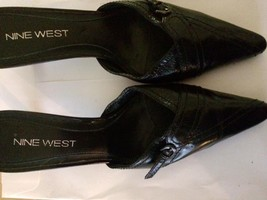 Nine West Black Slides Size 6 1/2 - €29,90 EUR