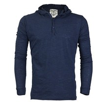 Royal Knights Men's Lightweight Slim Fit Pullover Henley Shirt Hoodie (Large, 07