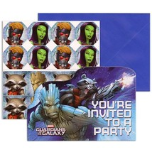 Guardians of The Galaxy Birthday Party Save The Date Invitations 8 Per P... - $4.90