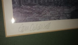English Tudor Cottage Offset Lithograph Signed By Tom Caldwell image 2