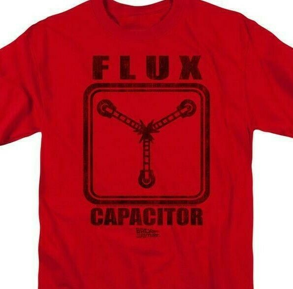 Back To Future T-shirt Flux Capacitor 1980's movie retro cotton tee UNI128