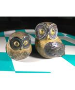 Wonderful Vintage Mid Century Modern Owl Set • Art Pottery • Made in Japan - $18.00