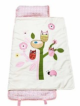 SoHo Nap Mat , Pink Owls Tree All Hand Embroidery - $35.61
