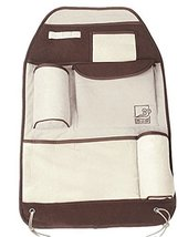 Auto Seat Back Organizer Car Accessories Multi-Pocket Travel Storage Bag Brown