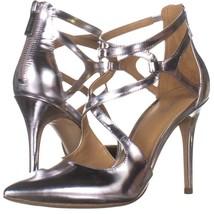 MICHAEL Michael Kors Catia Pump Stilleto Heels 685, Silver, 7 US - $45.11