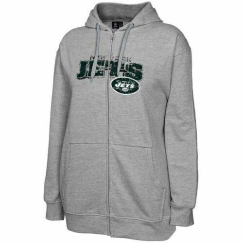 1XL New York Jets Women's Plus Hoodie NFL Classic Full Zip Hooded Sweatshirt