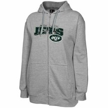 1XL New York Jets Women's Plus Hoodie NFL Classic Full Zip Hooded Sweatshirt